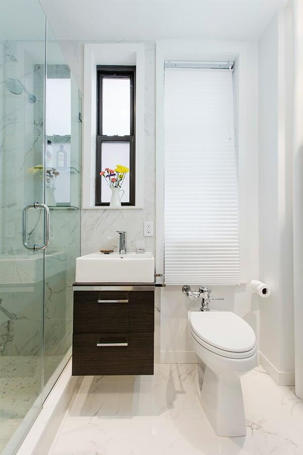 Sleek Bathroom Renovation With Walk In Shower