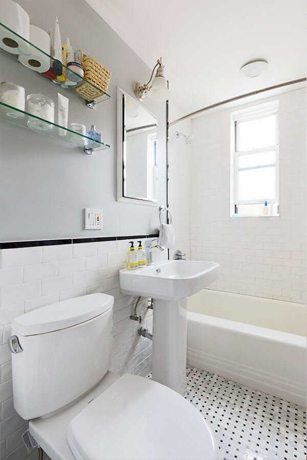 all white bathroom remodel