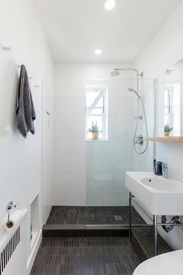 white squared tiles