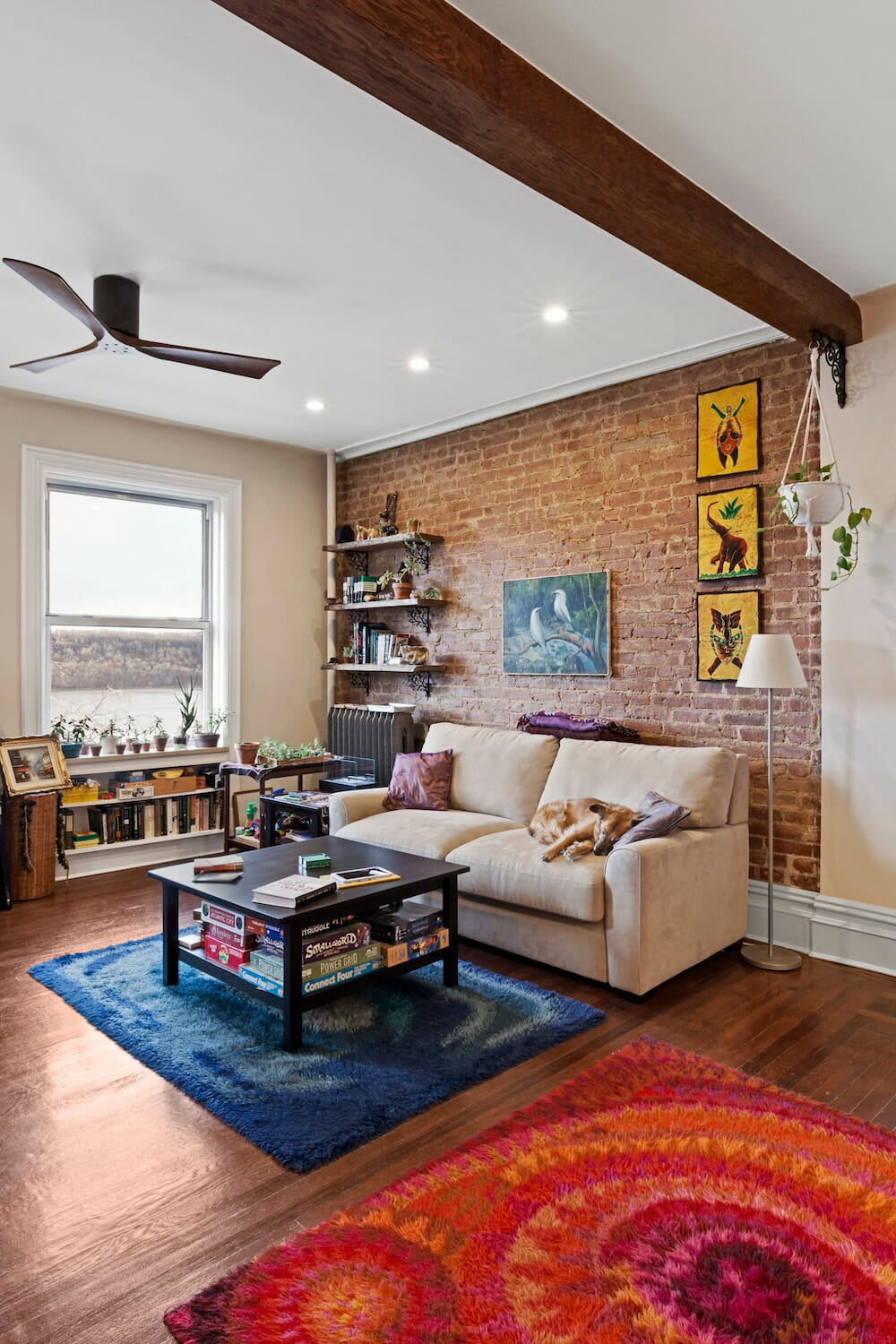 exposed beams, home renovation, design, construction, open living