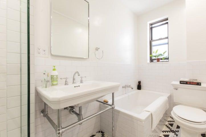 75 Year Old Bath Transforms With Simple Bathroom