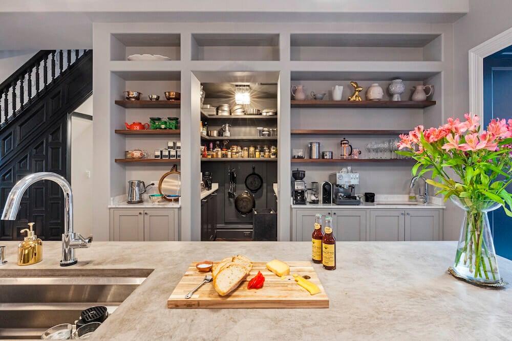 open pantry Sweeten kitchen renovation