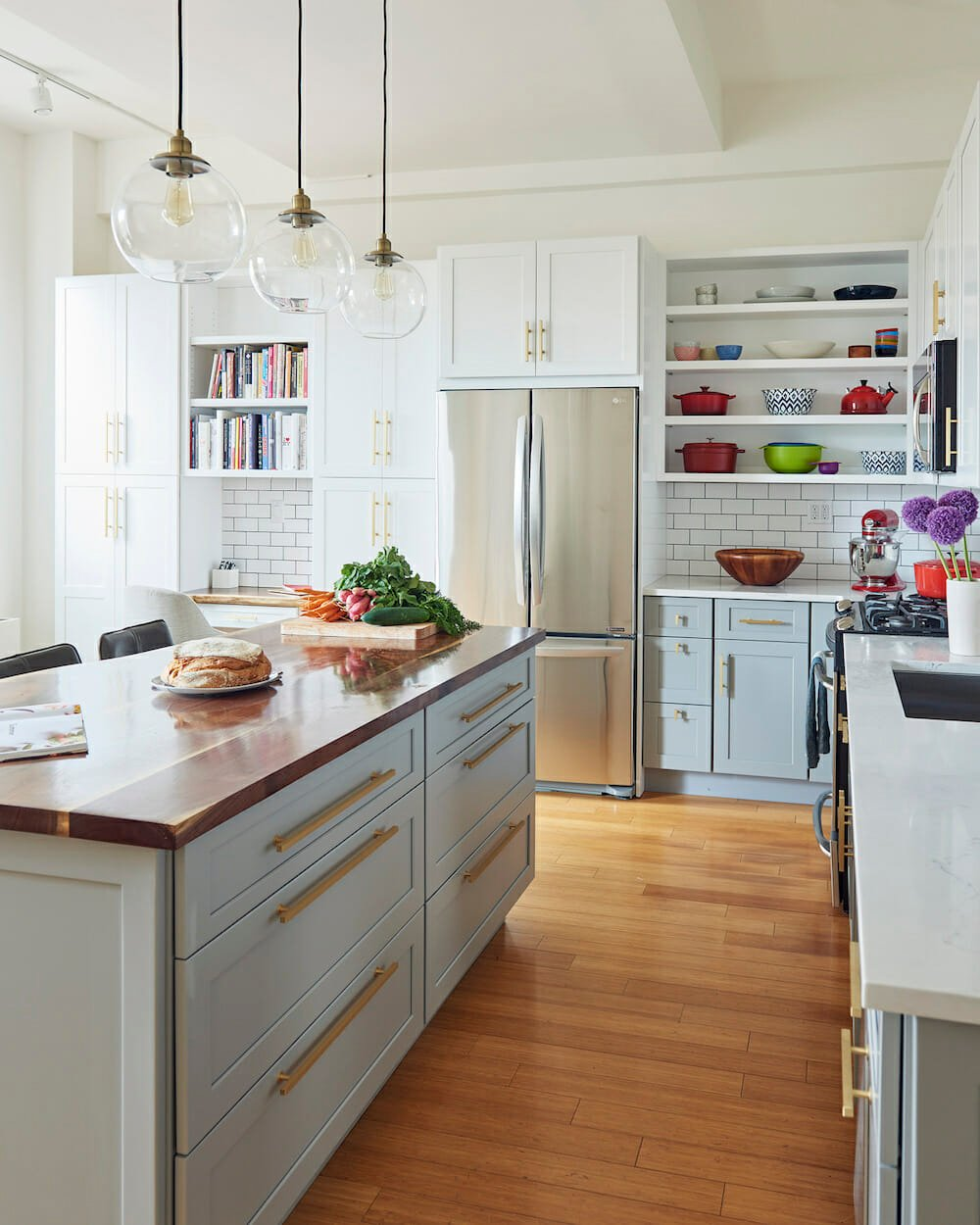 l-shaped kitchen layout with island