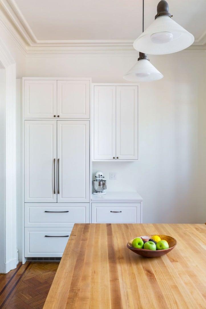 Brooklyn kitchen, landmark townhouse, cabinets, built-in