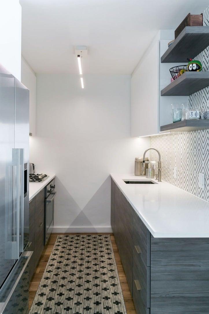 renovation, apartment combination, kitchen, backsplash tile
