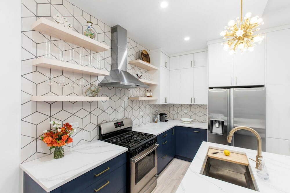 Carnegie Hill, Manhattan, apartment combination, design, construction, kitchen