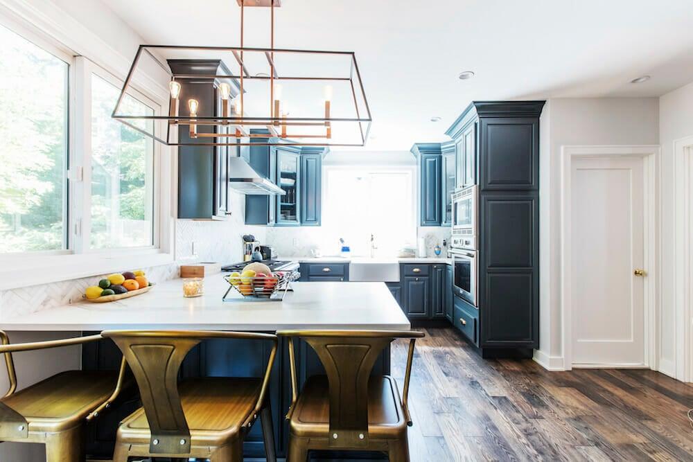 Brooklyn kitchen, renovation, remodel, peninsula