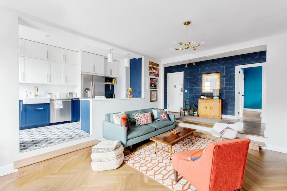 Kensington, renovation. open living