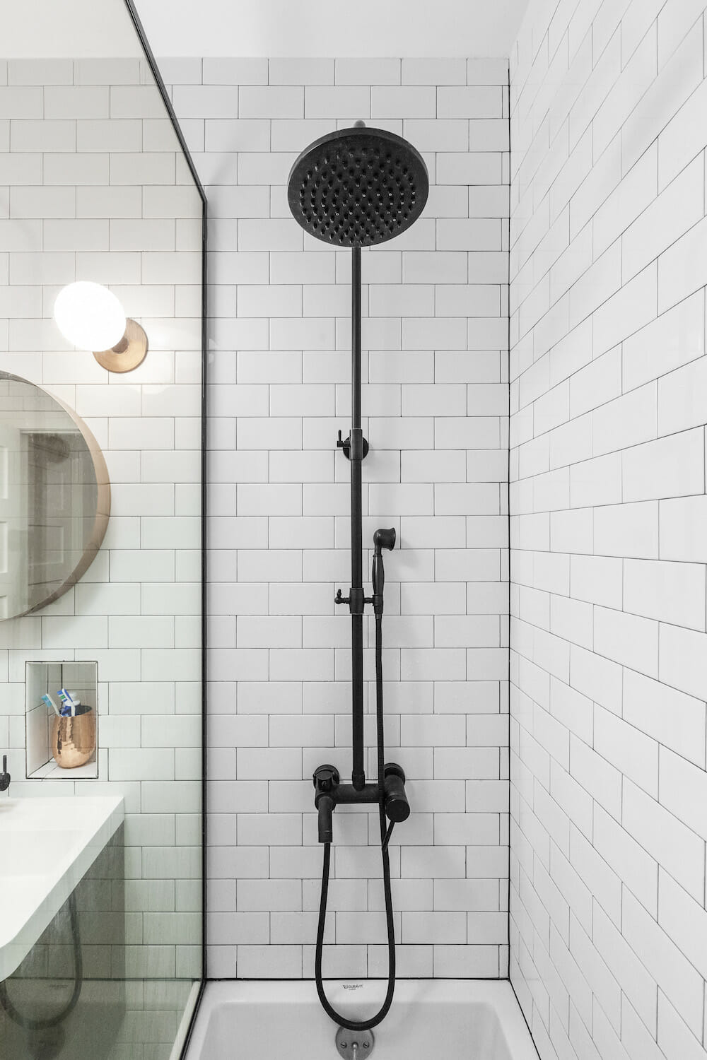 matte black shower fixtures