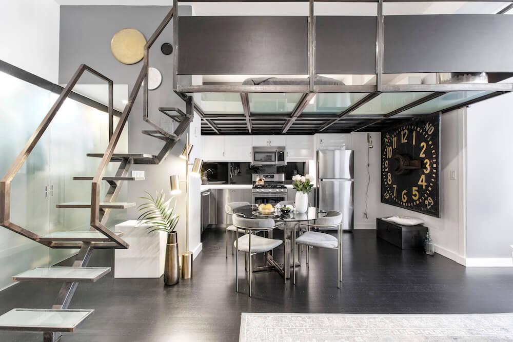 studio loft kitchen