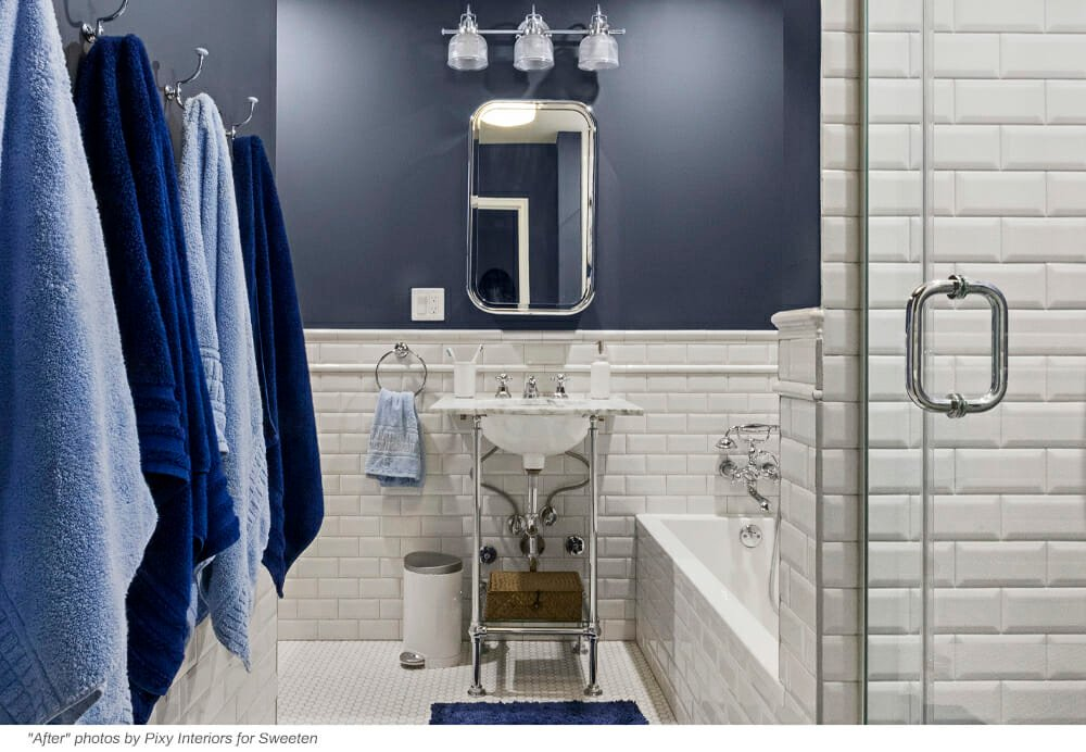Blue Penny Tile Updates A Bathroom To