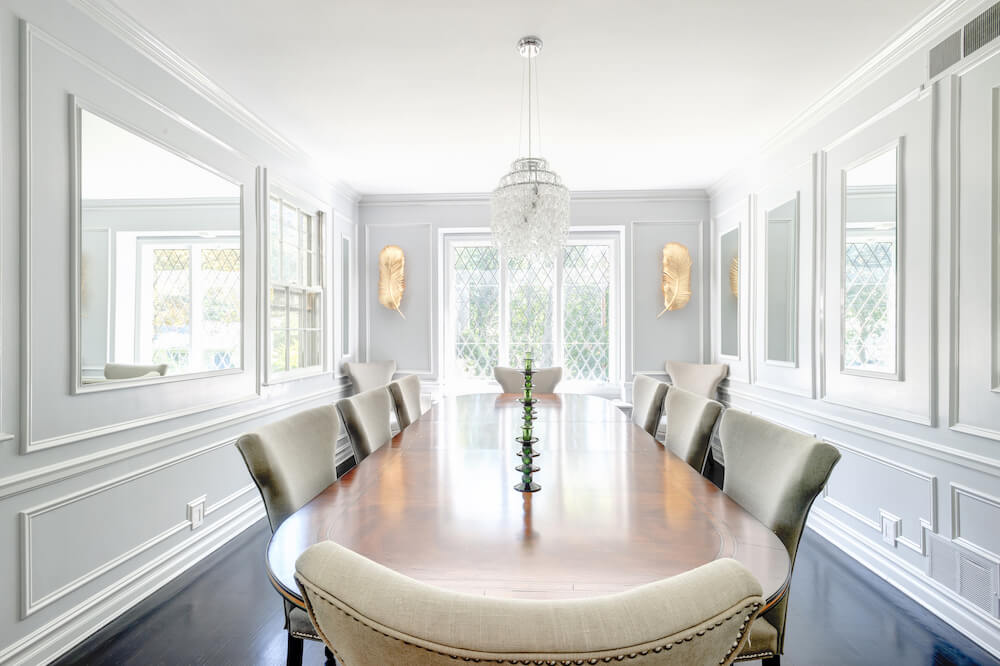 trim molding dining room